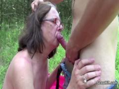 73yr Old Granny Seduce Fuck By 18yr Old German Boy Outdoor