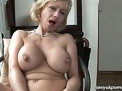 Mature British Pornstar Jane Bond Solo In The Study