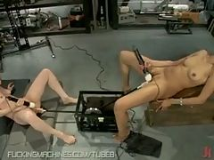 Two Amateur Girls Fuck Each Other With Machines