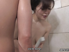Mature Asian Hoes Cleans And Drains The Dudes Meaty Pipe