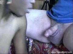Lola S Interracial White Man Blowjob