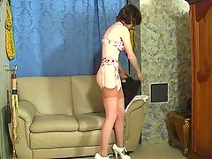 Cute Teen Undresses And Is Bound And Spanked By Her Master