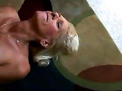 Hot Fuck 27 Blonde Granny Fucked Good On The Floor